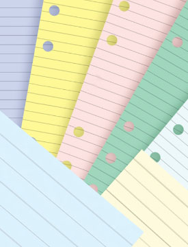 filofax assorted color paper for little ring binders