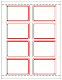 RED BORDER NAME BADGE LABELS